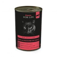 Fitmin FFL cat tin adult beef 12 x 415 g