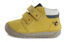 D-D-step 070-387A fantovski barefoot čevlji, usnjeni, rumeni, 20