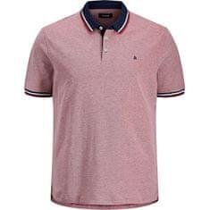 Jack&Jones Plus Pánske polo triko Slim Fit JJEPAULOS 12143859 Rio Red (Veľkosť 3XL)