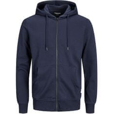Jack&Jones Plus Bluza męska JJEBASIC SWEAT ZIP 12182493 Navy Blaze r (Rozmiar XXL)