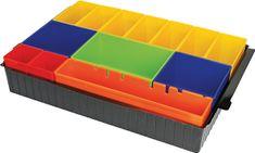 Makita notranja posoda z barvnimi škatlicami in peno P-83652