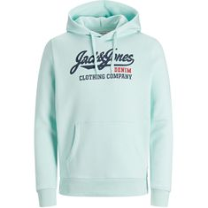 Jack&Jones Moška jopica JJELOGO 12172349 Bleached Aqua (Velikost S)
