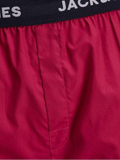 Jack&Jones 2 PACK - moške kratke hlače JACRED 12183099 Red Bud