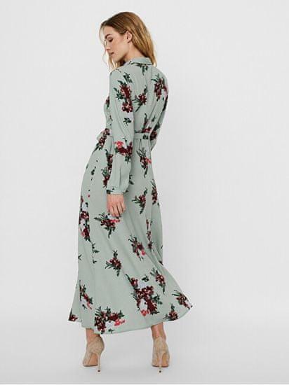 Vero Moda Ženska obleka VMNEWALLIE MAXI 10251668 Green Mili eu NEWALLIE