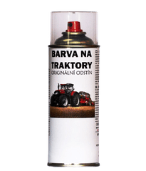BARVY NA TRAKTORY CASE IH 2-K PUR originální barva ve spreji 400ml, ČERNÁ MATNÁ