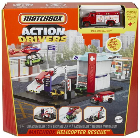 Matchbox Action Drivers Helicopter Rescue
