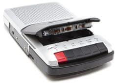 GPO Retro odtwarzacz kaset WO162B, srebrny