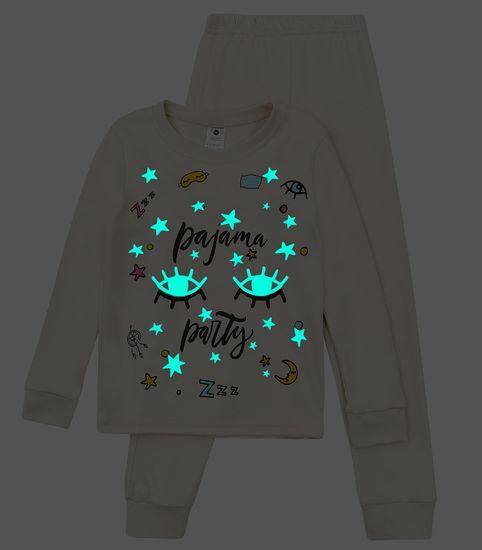 Garnamama dívčí pyžamo s potiskem svítícím ve tmě md50841_fm30