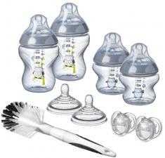 Tommee Tippee komplet otroških stekleničk C2N s krtačko, za fantke - Odprta embalaža