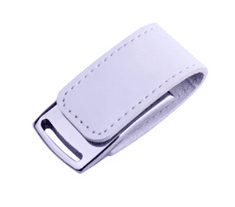 CTRL+C USB kůže bílý, 8 GB, USB 2.0