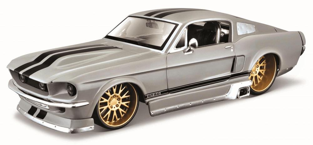 Maisto Ford Mustang GT 1967 šedý 1:24