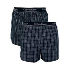 Calvin Klein 2 PACK - férfi alsó nadrág Breslin Plaid-Black, Gallagher Stripe-Black (méret M)