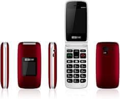 MaxCom Comfort MM824 mobilni telefon, rdeč
