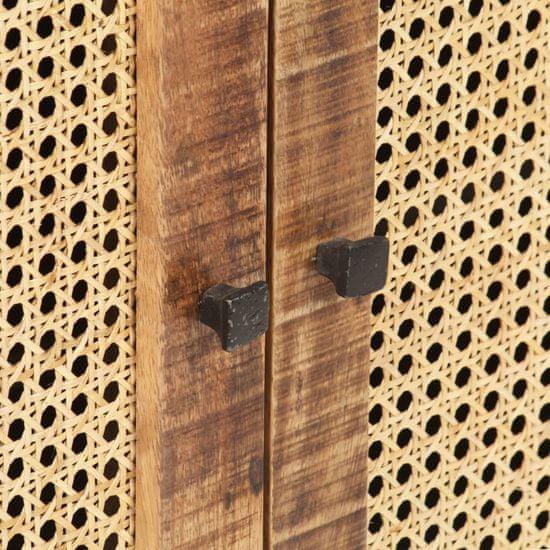 shumee Sideboard 60x35x75 cm grob les iz manga in naravni trs