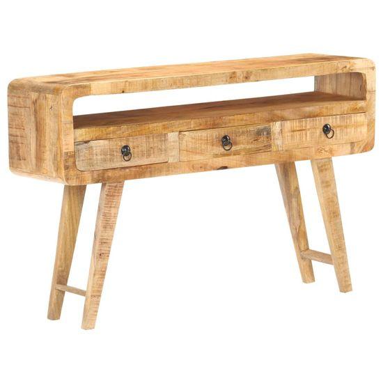 shumee Sideboard 120x30x75 cm Rough Mango Wood