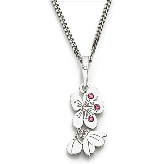 Praqia Originálne strieborný náhrdelník Cherry KO5034_RH (retiazka, prívesok) striebro 925/1000