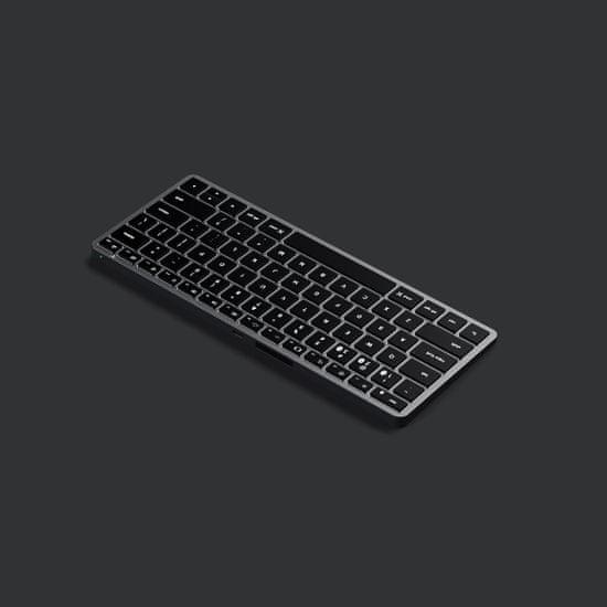 Satechi Slim X1 brezžična tipkovnica, Bluetooth, Space Gray, US