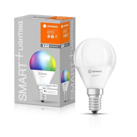 LEDVANCE SMART+ WiFi Mini Bulb Multicolour 40 5 W/2700…6500K E14