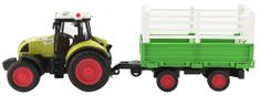 Teddies traktor s prikolico, s svetlobnimi in zvočnimi učinki, 39 cm