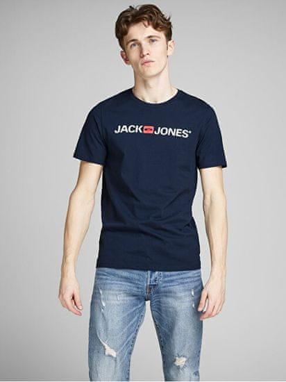 Jack&Jones JJECORP 12137126 moška majica JJECORP 12137126 Navy Blaze r SLIM FIT