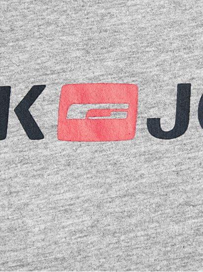 Jack&Jones Férfi póló JJECORP 12137126 Light grey Melange SLIM FIT - MELANGE