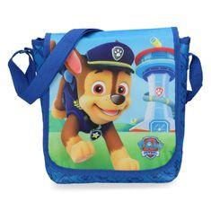 Menšia crossbody taška pre chlapcov Tlapkova patrola, modrá