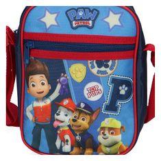 Menšia taška pre chlapcov Tlapkova patrola, modro červená