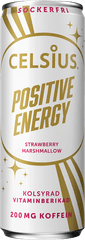 Celsius Energetický Nápoj Positive Energy - Příchuť Jahoda Maršmeloun - 355ml