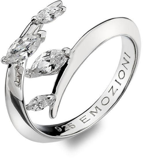 Hot Diamonds Srebrni prstan Hot Diamonds Emozioni z cirkoni ER023 srebro 925/1000
