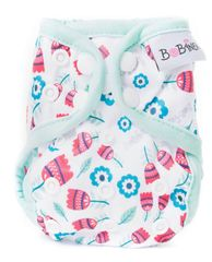 Bobánek majtki wierzchnie dla noworodka, na zatrzaski - Tulipany