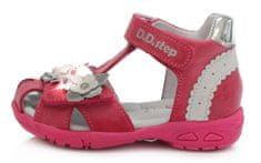 D-D-step AC290-384 dekliški sandali, svetleči, roza, 24