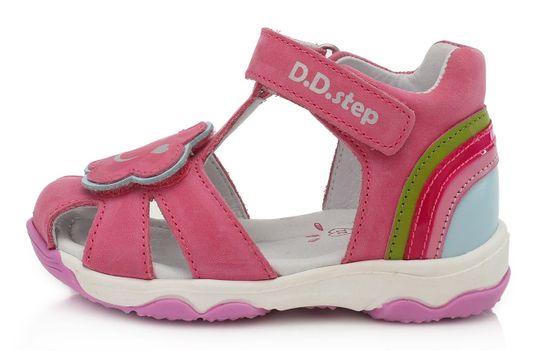 D-D-step AC64-78A sandale za djevojčice, kožne
