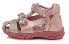 D-D-step AC64-826E dekliški sandali, usnjeni, roza, 29