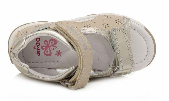 D-D-step Bőr szandál lányoknak AC64-176