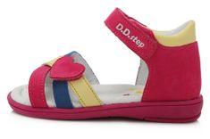 D-D-step K03-789 dekliški sandali, usnjeni, roza, 29