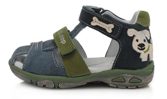 D-D-step AC290-612 sandale za dječake, kožne