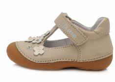 D-D-step dívčí kožené sandály 015-467 19 béžová