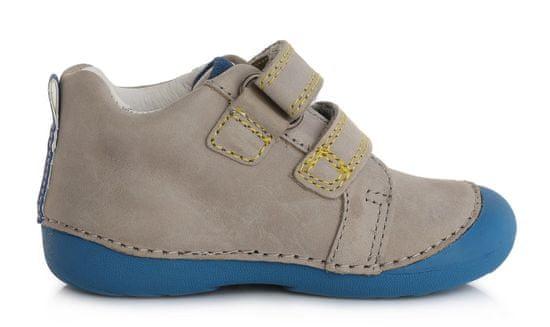 D-D-step Chlapecká kožená celoroční obuv 015-798A
