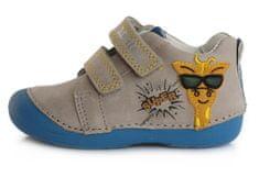 D-D-step 015-798A fantovski celoletni čevlji, usnjeni, sivi, 21