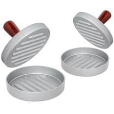tectake 2 Tvořítka na hamburgery jednoduchá - hnědá/šedá