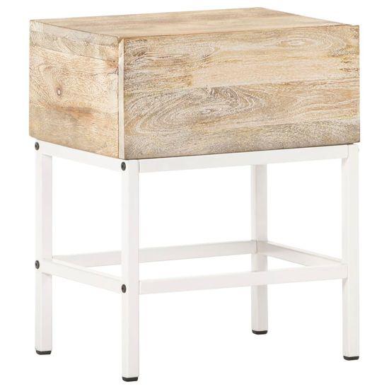 shumee nočna miza 40x30x50 cm Masivni les iz manga