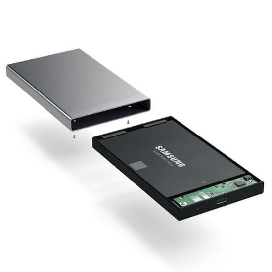 Satechi Type-C ohišje za HDD/SSD disk, aluminij, Space Grey