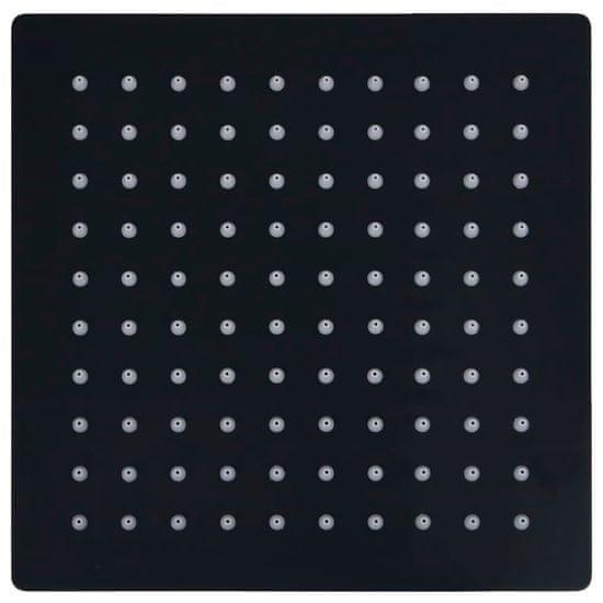 shumee Tuš glava nerjaveče jeklo 20x20 cm kvadratna črna