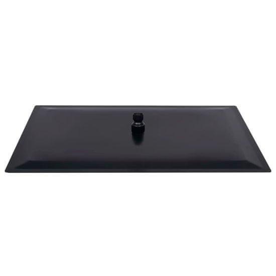 shumee Tuš glava nerjaveče jeklo 50x30 cm pravokotna črna