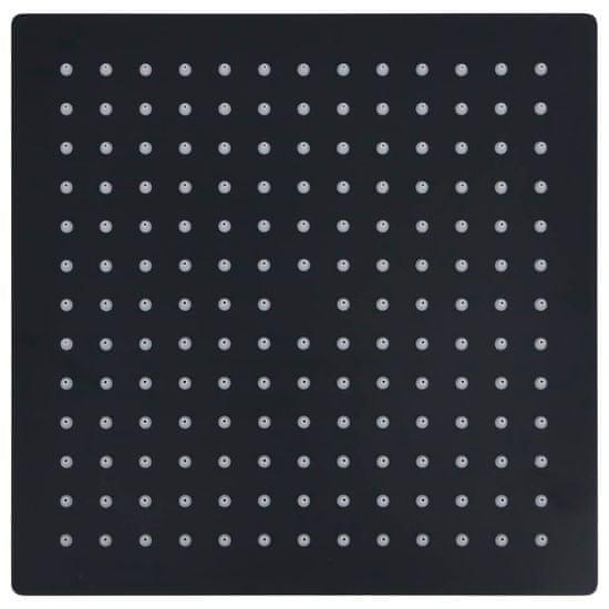 shumee Tuš glava nerjaveče jeklo 25x25 cm kvadratna črna