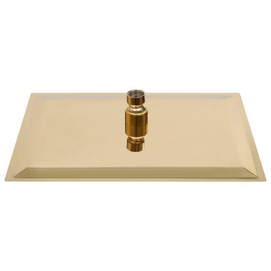 shumee Tuš glava nerjaveče jeklo 30x20 cm pravokotna zlata