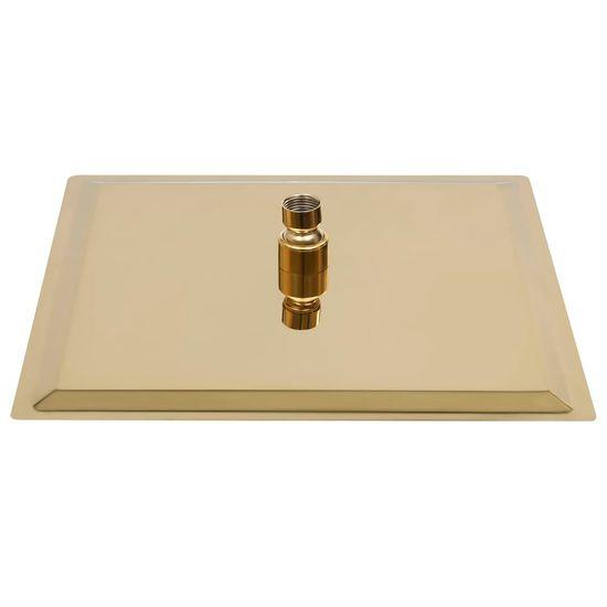 shumee Tuš glava nerjaveče jeklo 30x30 cm kvadratna zlata