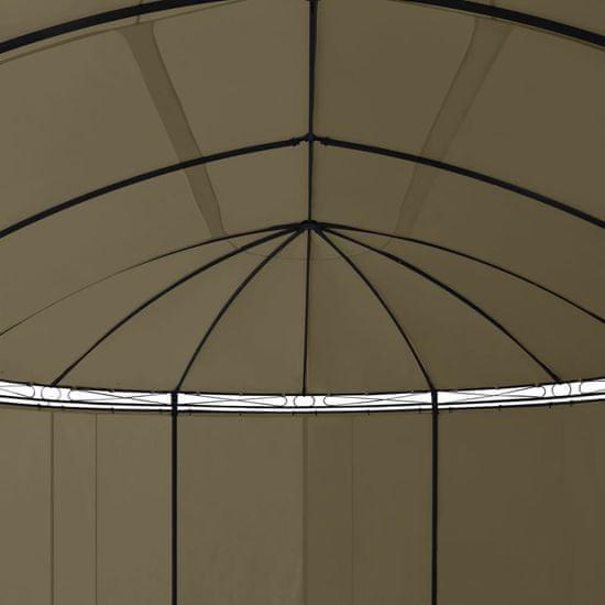 shumee Paviljon z zavesami 5,3x3,5x2,65 m taupe 180 g/m²