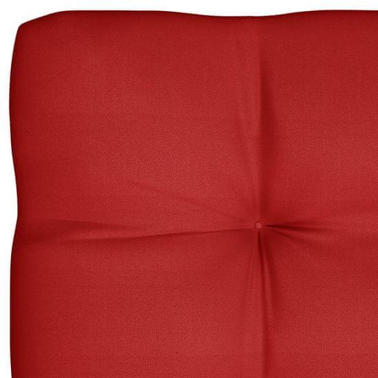 shumee Podložka na paletový nábytok, červená 120x80x12 cm, látka
