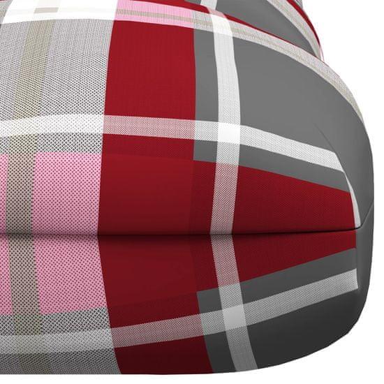 shumee Blazina za palete Rdeča šahovnica 120x80x12 cm Tkanina